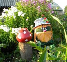 Украшения для сада и огорода своими руками
