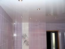 Какой сделать потолок в ванной