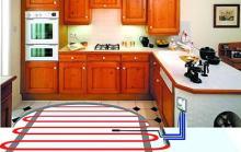 Как сделать электрический теплый пол на кухне
